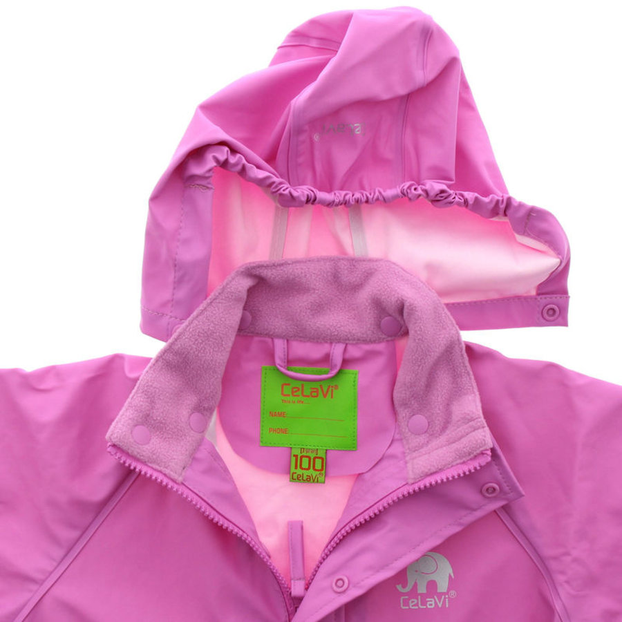 Waterdichte roze kinderregenjas  | 80-140-2