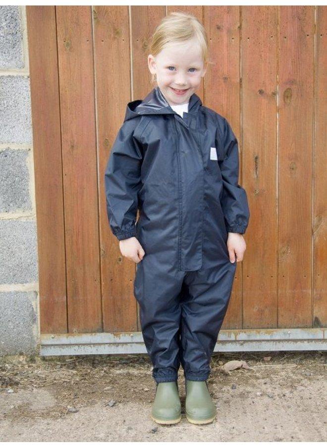 Waterproof overall, regenoverall - navyblauw grote maten