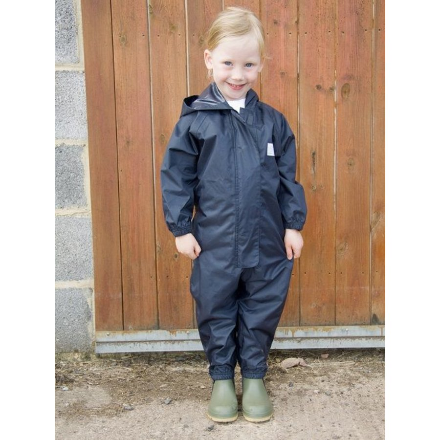 Waterproof overall, rain overall - navy blue large sizes-4