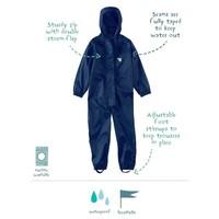 thumb-Waterproof overall, regenoverall - navyblauw grote maten-2