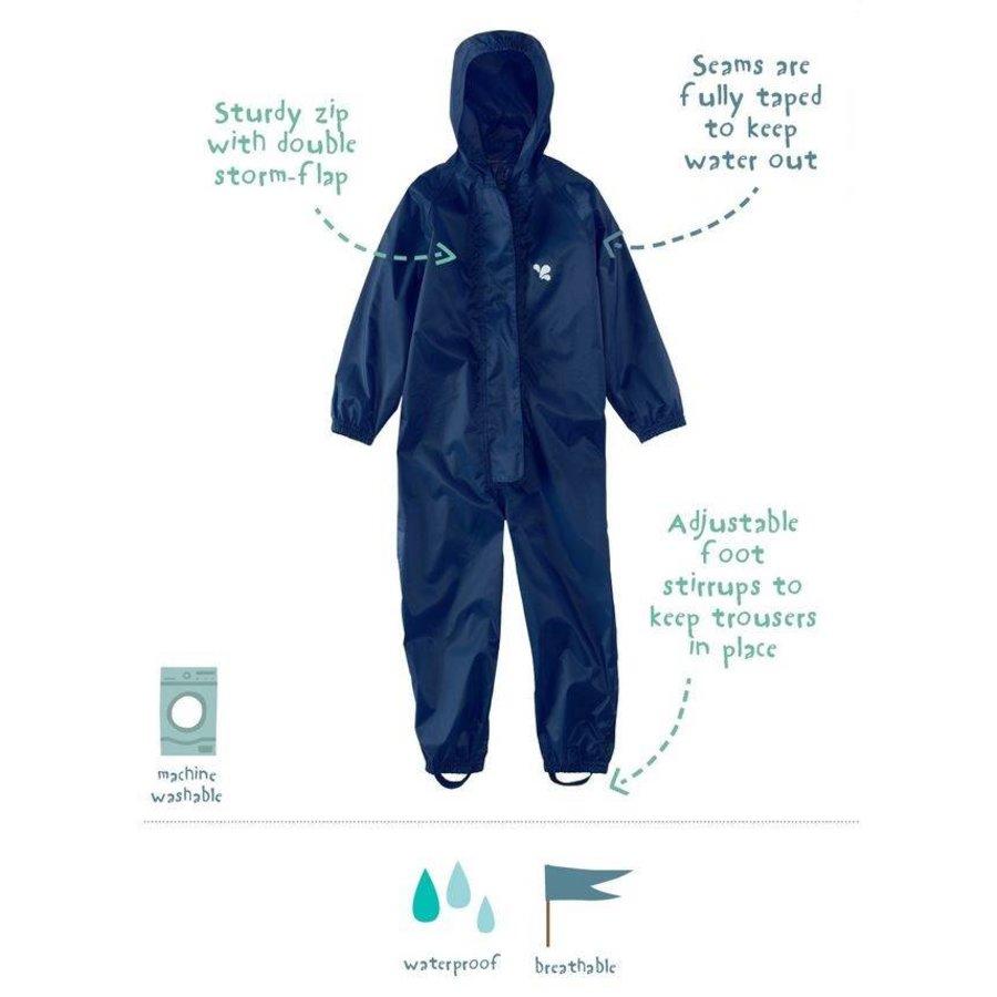Waterproof overall, regenoverall - navyblauw grote maten-2