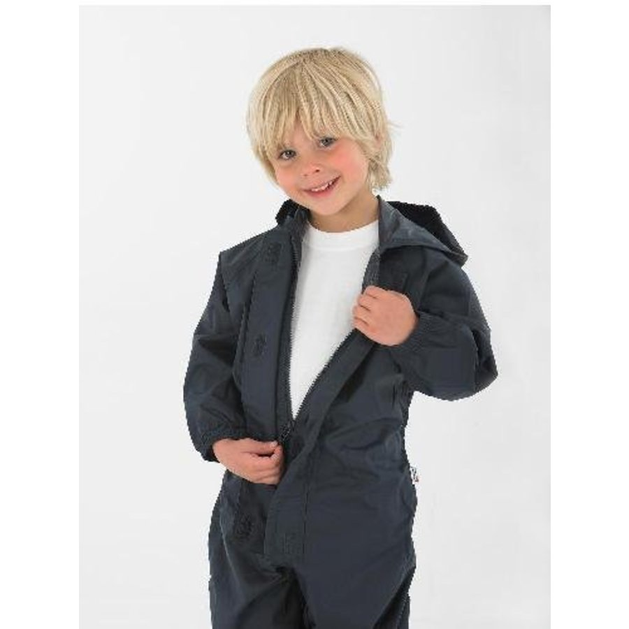 Waterproof overall, rain overall - navy blue large sizes-1