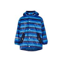 Kinderregenjas | gevoerd | blauwe streep| 80-140