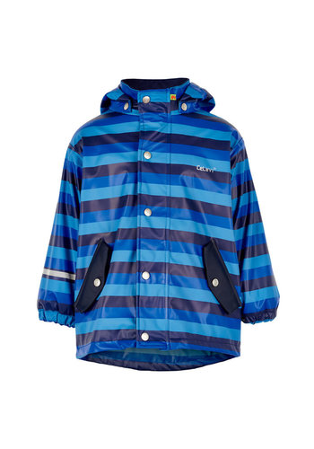 CeLaVi Blue striped children's raincoat | 80-140