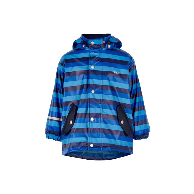 Blue striped children's raincoat   80-140