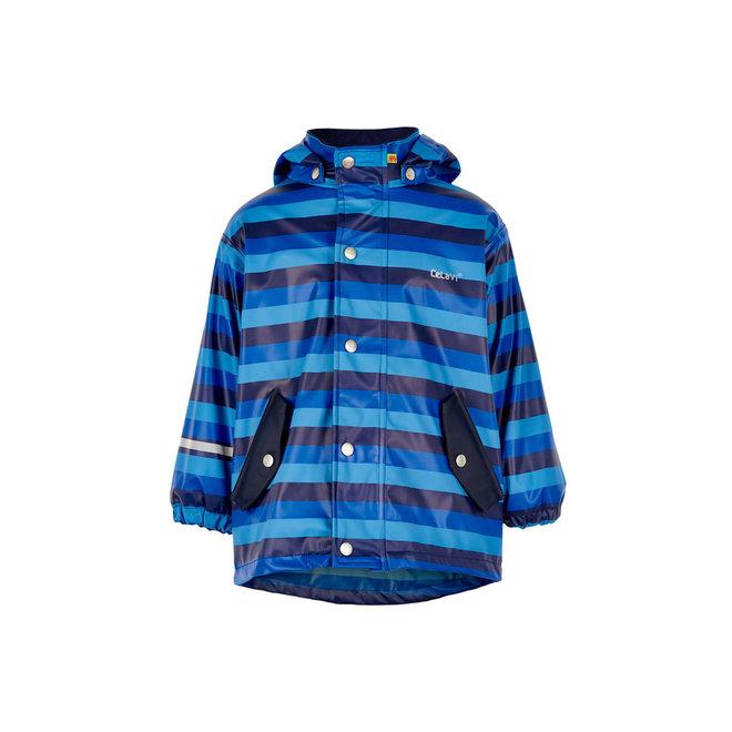 Children's blue striped raincoat   90-140