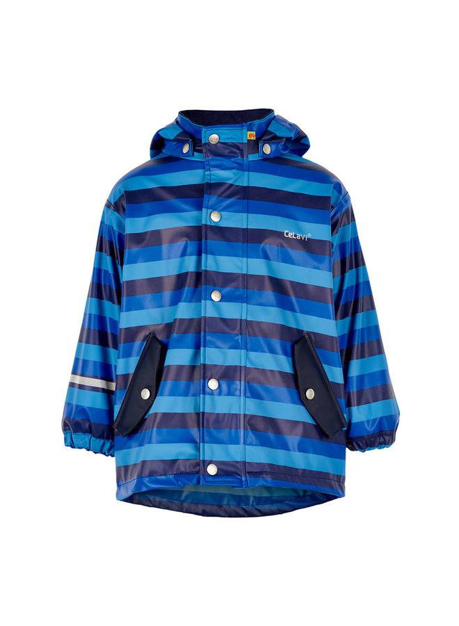 Blue striped children's raincoat | 80-140