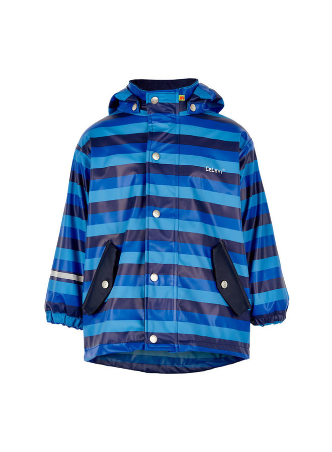 Children's raincoat lined blue line | 80-140