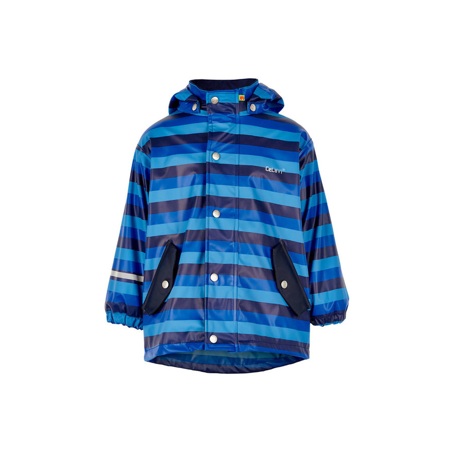 Children's raincoat lined blue line   80-140-1