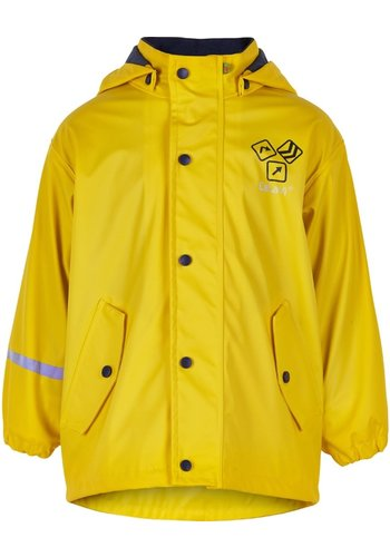 CeLaVi Yellow lined raincoat Sign Yellow 80-140