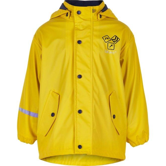 Gele gevoerde regenjas   Sign Yellow   80-140
