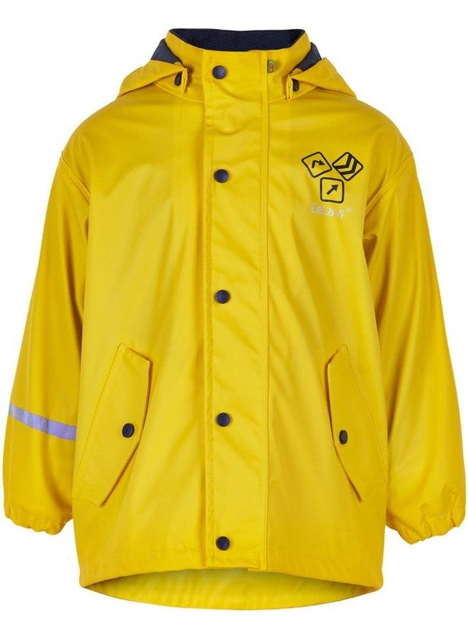 Gele gevoerde regenjas | Sign Yellow | 80-140