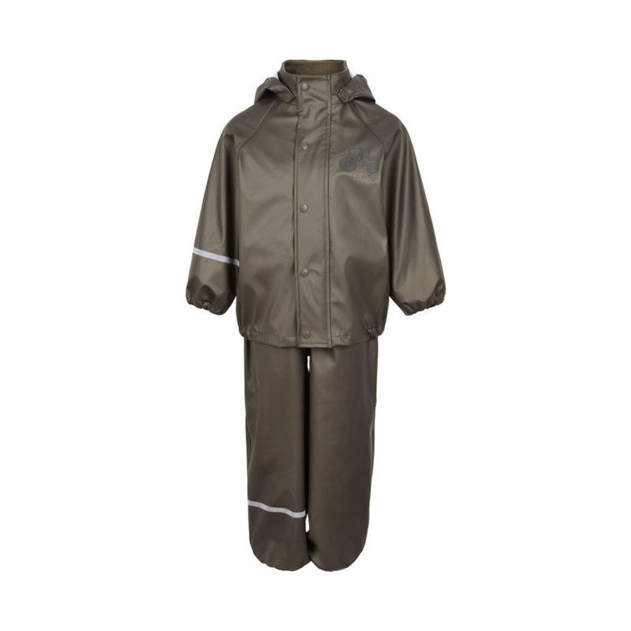 Children's rainsuit Metallic Tractor | Olive green 80-120-2