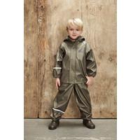 thumb-Children's rainsuit Metallic Tractor | Olive green 80-120-1