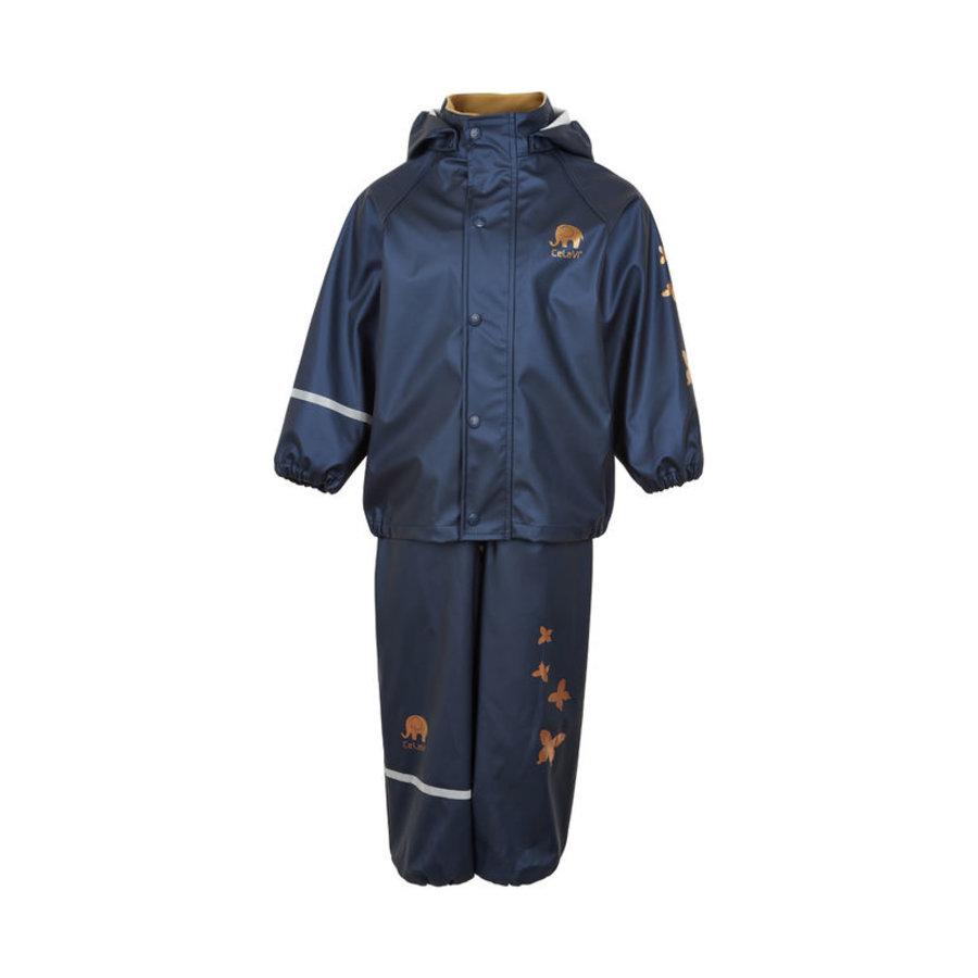 Kinderregenpak Metallic | Vlinders| navy| 80-120-2