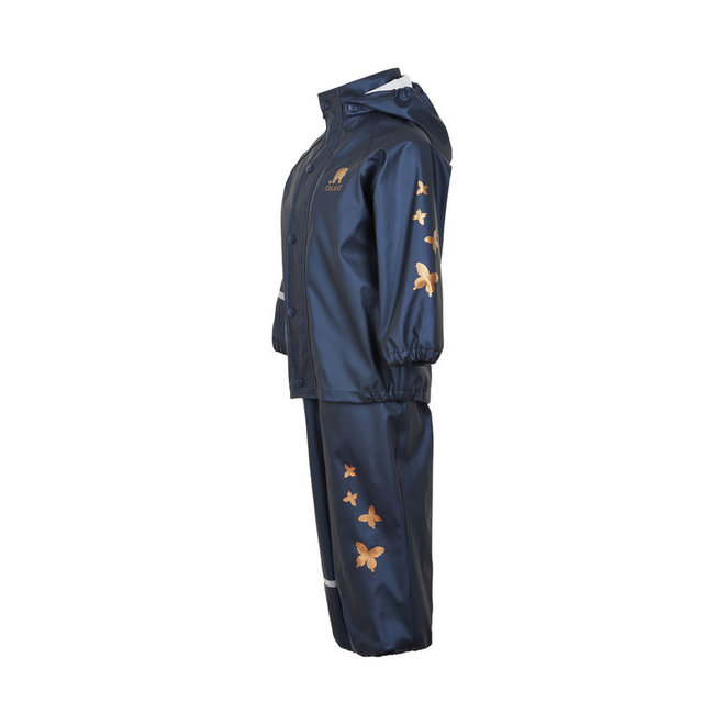Children's rainsuit Metallic | Butterflies | navy | 80-120