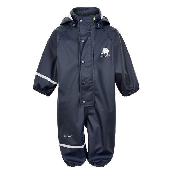 One-piece children's rainsuit   navy blue   70-110