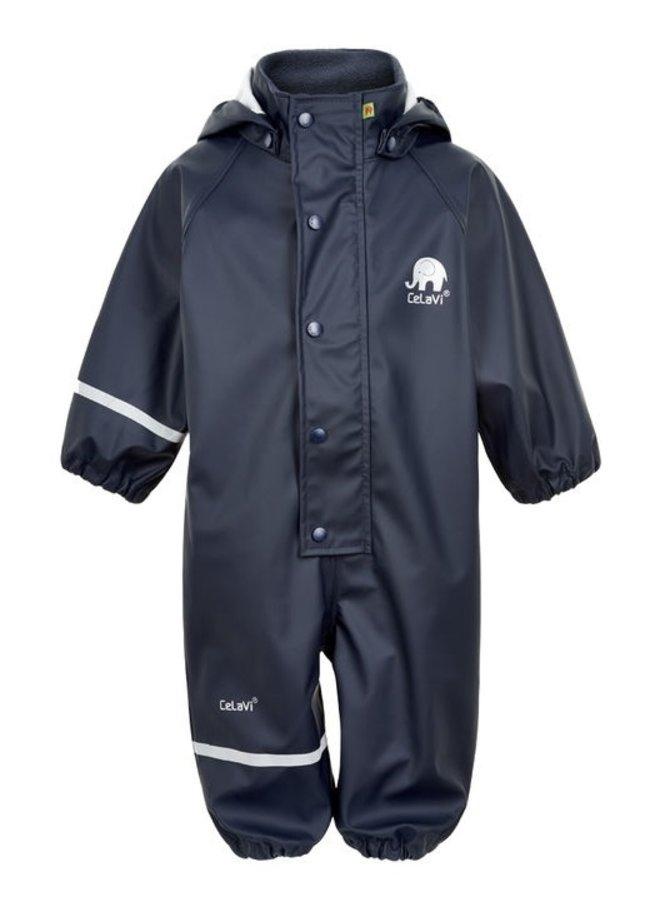 Navy blauwe kinder regenoverall | 70-110