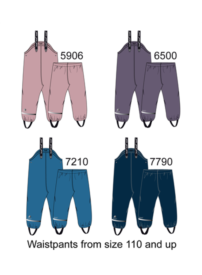 Fleece gevoerde kinder regenbroek | Paars| 80-140