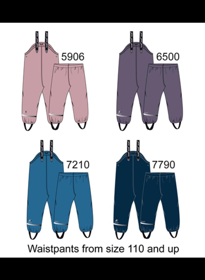 Fleece lined children's rain pants | Purple | 80-140