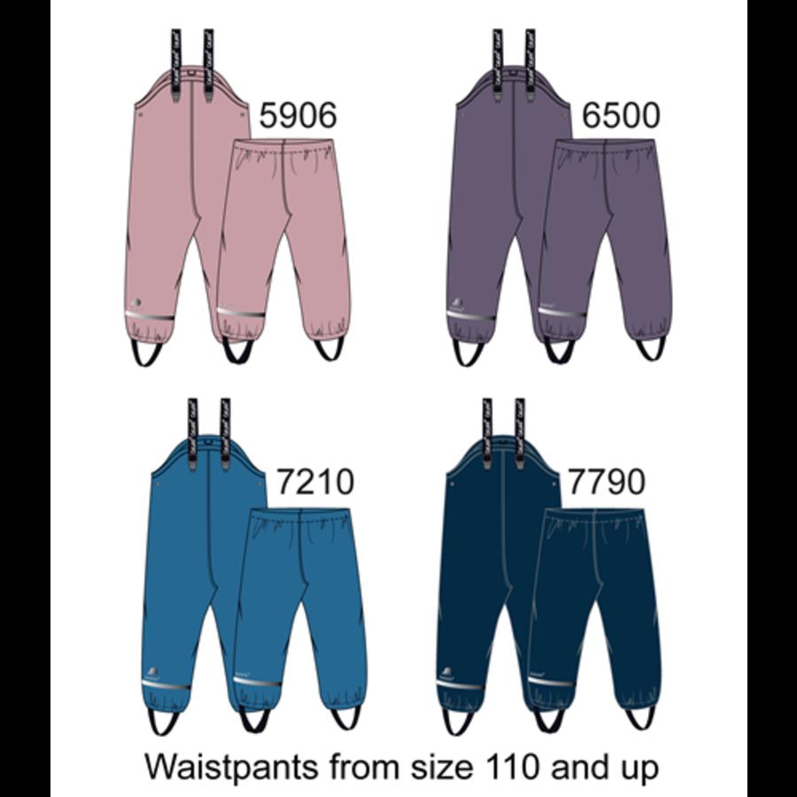 Fleece lined children's rain pants | Purple | 80-140-2