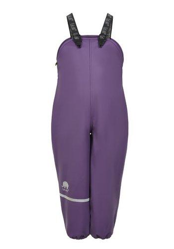 CeLaVi Fleece gevoerde regenbroek met bretels | Paars | 80-140