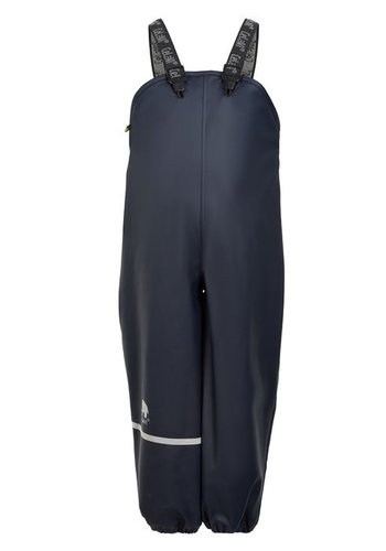 CeLaVi Fleece lined rain pants with suspenders navy | 80-140
