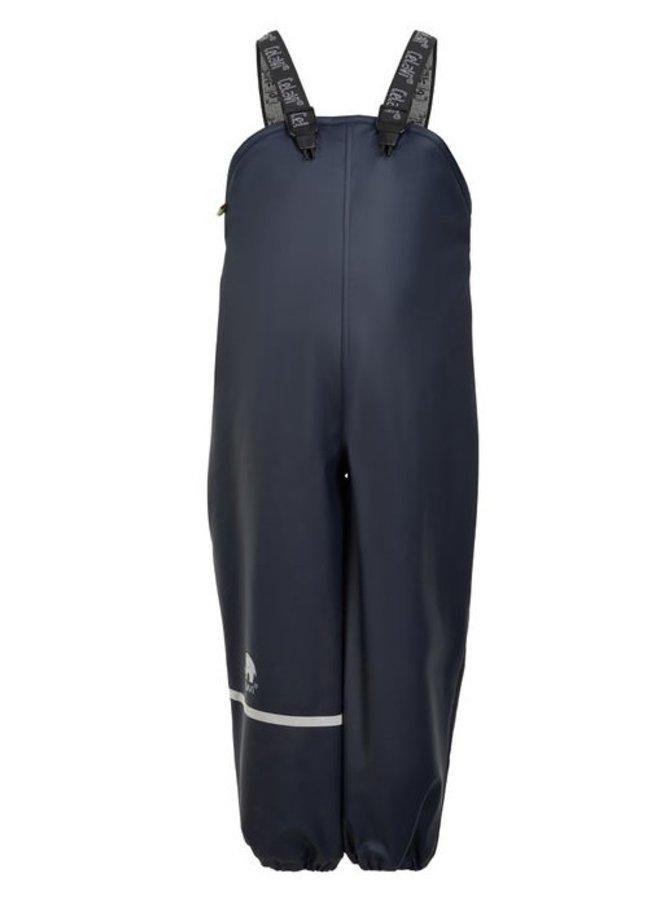 Fleece gevoerde regenbroek met bretels | navy| 80-140