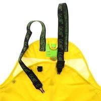 thumb-Sustainable children's rain pants yellow | braces | 110-130-2