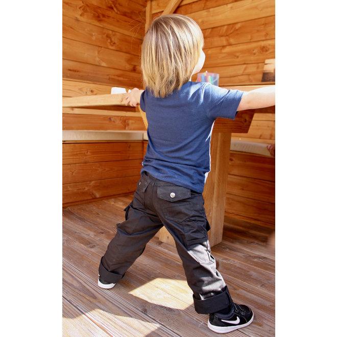 Black basic children's work trousers, worker