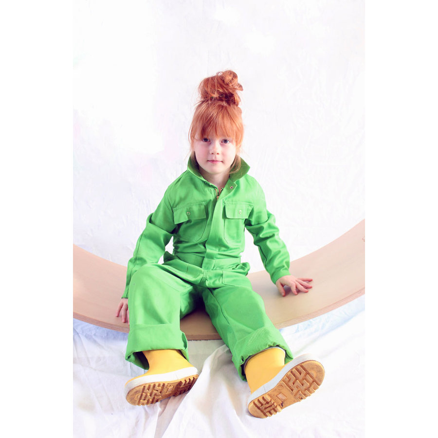 lime overall with name or text printing-3