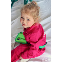thumb-Pink fuchsia overall with name or text printing-2