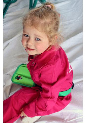 Fuchsia pink overalls