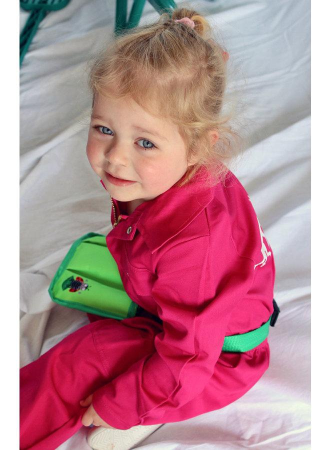 Fuchsia pink kids overall