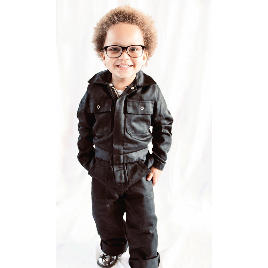 Zwarte kinderoverall-2