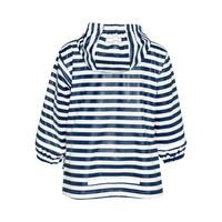 thumb-Kinderregenjas blauw wit gestreept met rode accenten| maat 80-110-3