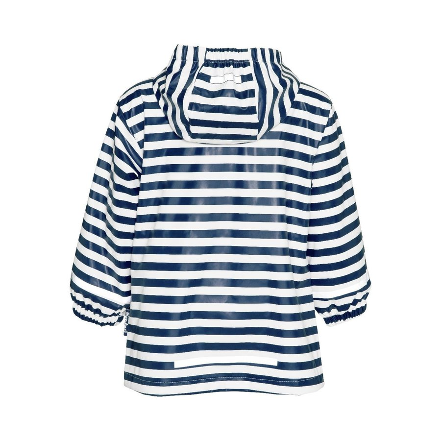 Children's raincoat blue white striped with red accents size 80-110-3