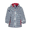 Playshoes Children's raincoat blue white striped with red accents size 80-110