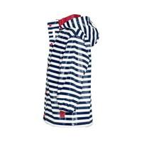 thumb-Kinderregenjas blauw wit gestreept met rode accenten| maat 80-110-2