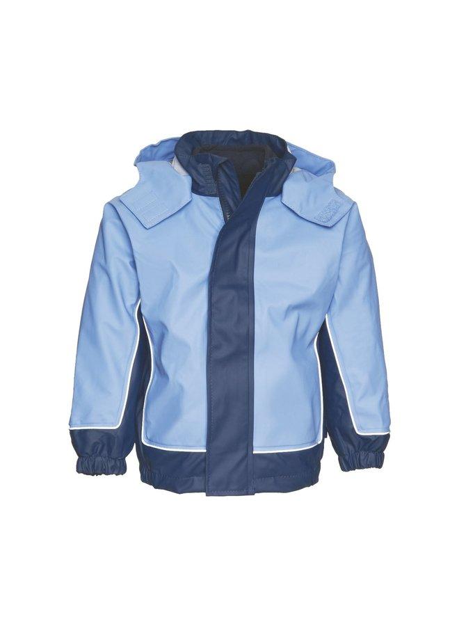 Kinder regenjas met uitneembare fleece voering| maat 80-140