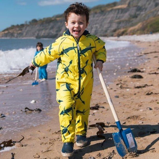 EcoSplash lined rain suit | fossil print | 0-6 months
