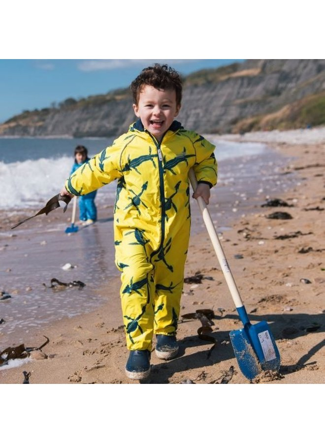 Sustainable rain suit ECOSPLASH, Fossil   0-6 years
