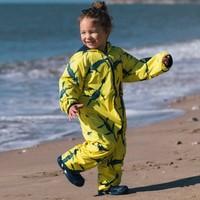 thumb-Sustainable rain suit ECOSPLASH, Fossil   0-6 years-4