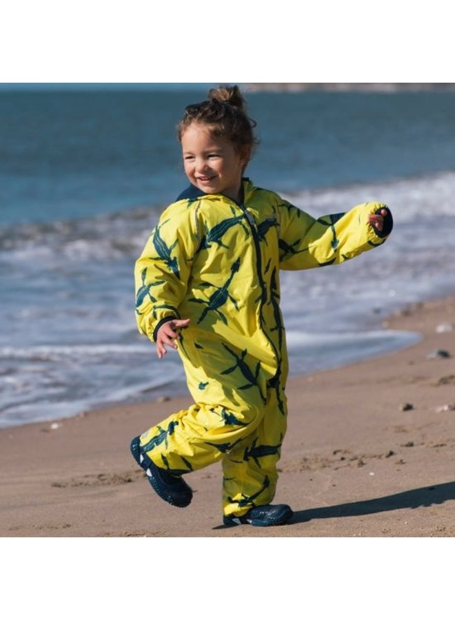 Sustainable rain suit ECOSPLASH, Fossil | 0-6 years