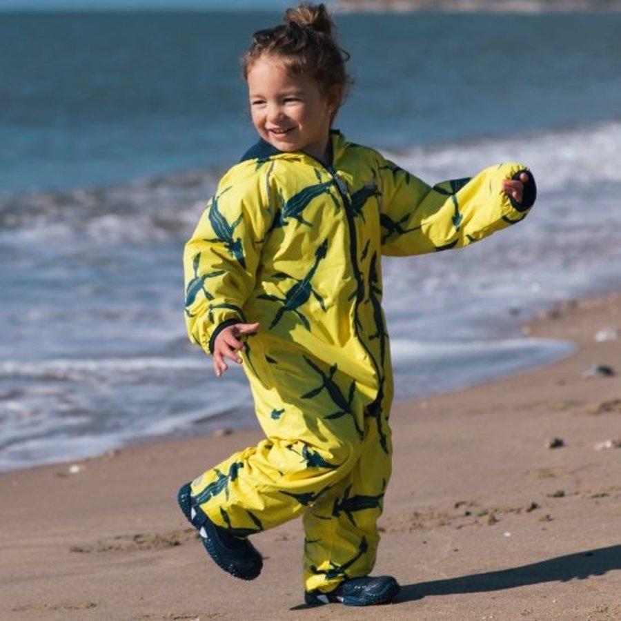 Sustainable rain suit ECOSPLASH, Fossil   0-6 years-4