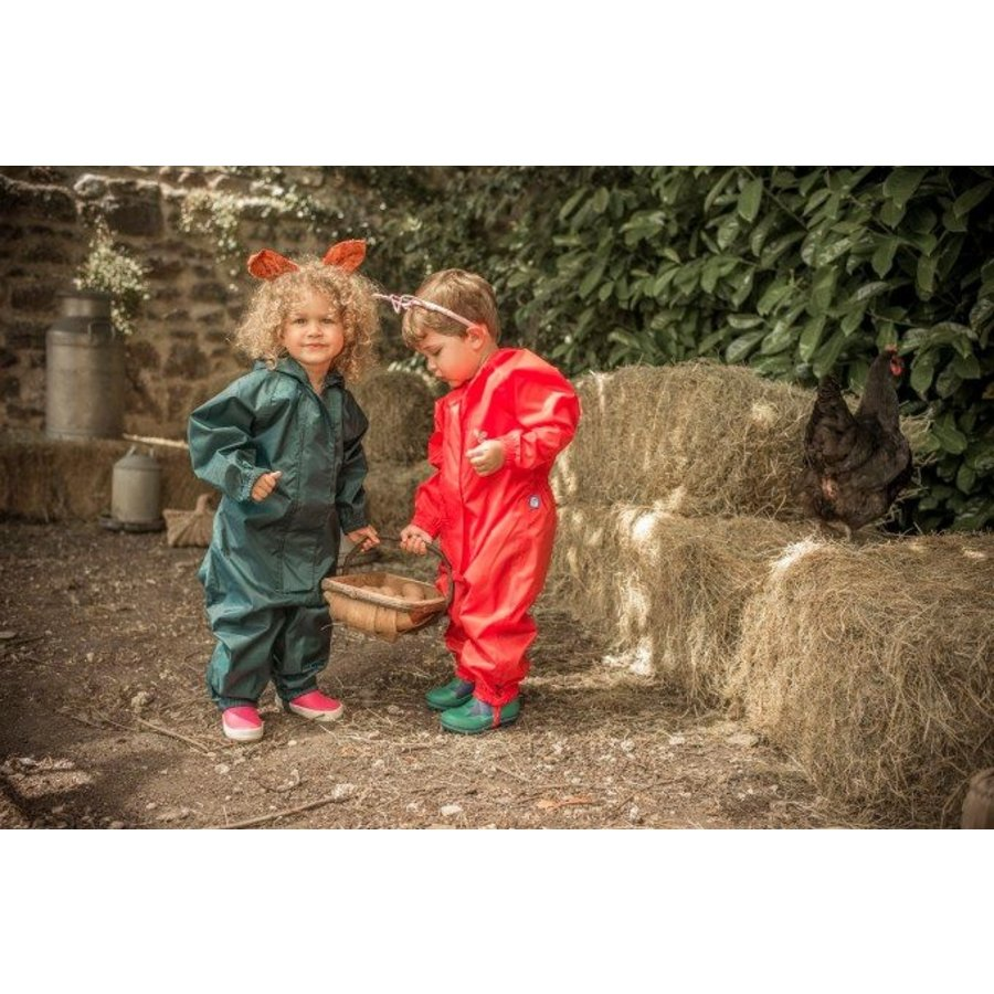 Waterproof overall, regenoverall - rood KDV & BSO-5