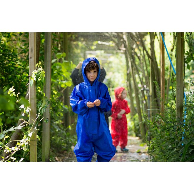 Waterproof overall, regenoverall - korenblauw
