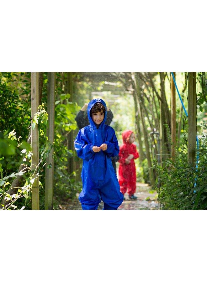 Waterproof overall, rain overall - cornflower blue