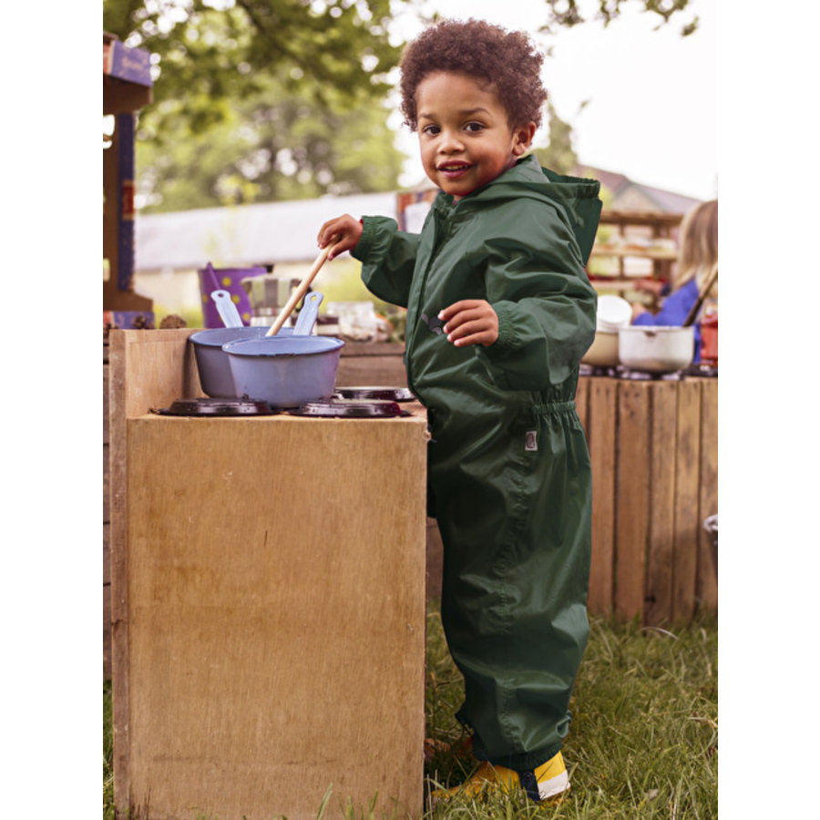 Waterproof overall, regenoverall - donkergroen KDV & BSO-1