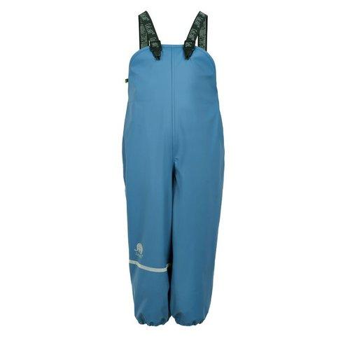 CeLaVi Fleece gevoerde regenbroek met bretels   hemelsblauw  80-140